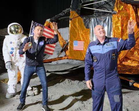 Opnames Missie in het Museum bij Space Expo met André Kuipers en Sander Koenen.jpg